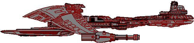 Klingon ship kitbash