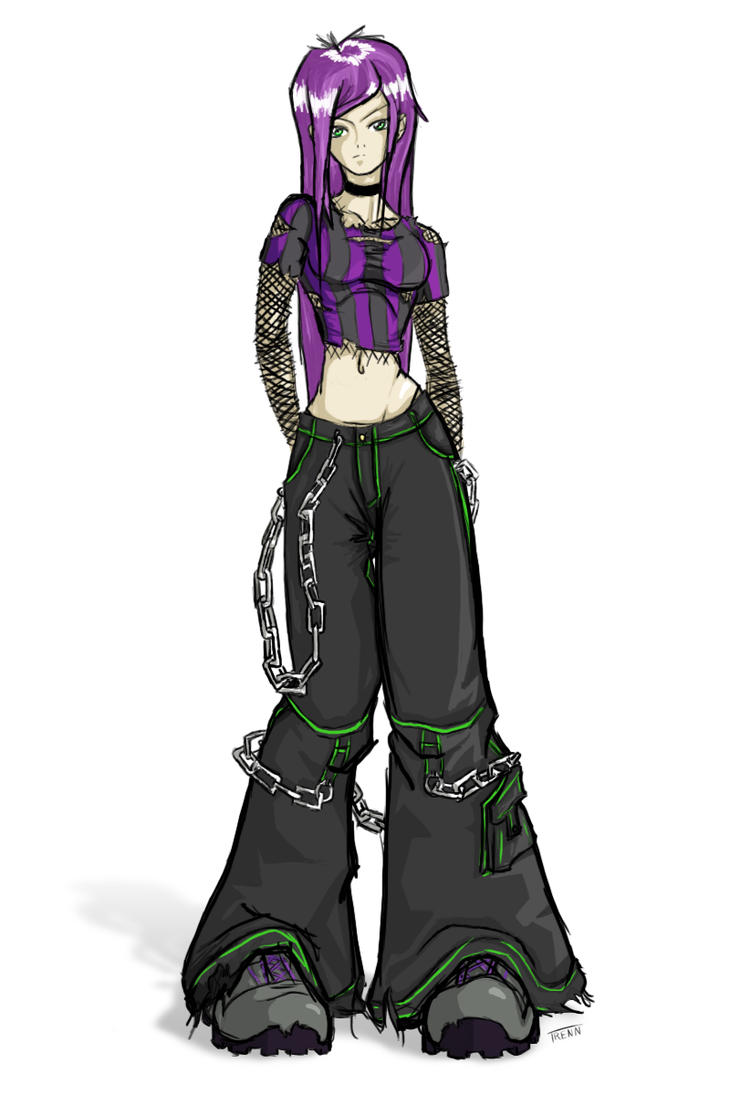 baggy pants girl by trenn on deviantart
