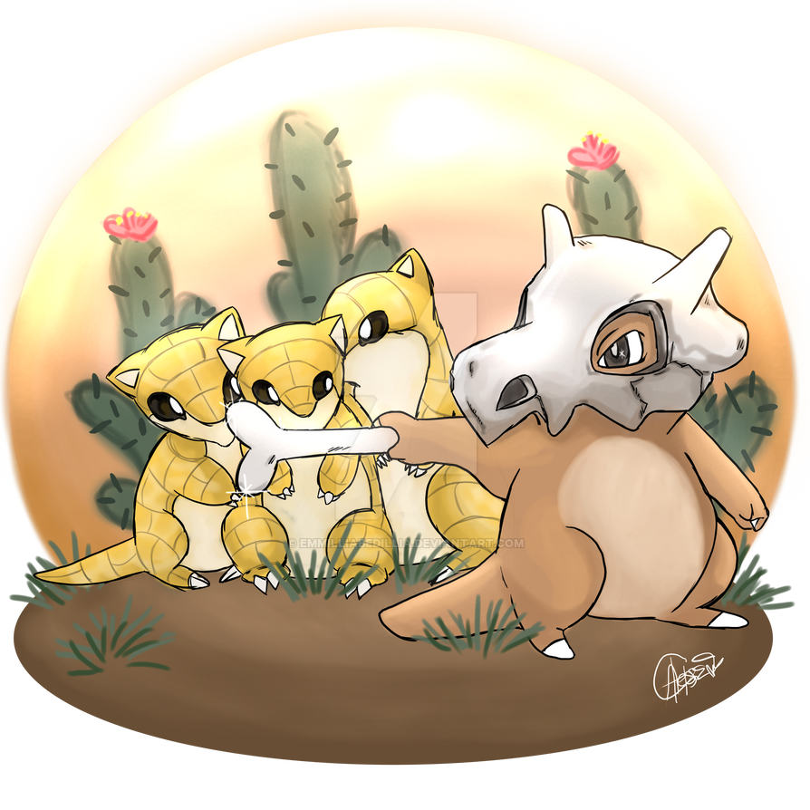 #104- Cubone by EmmilliaBedillia