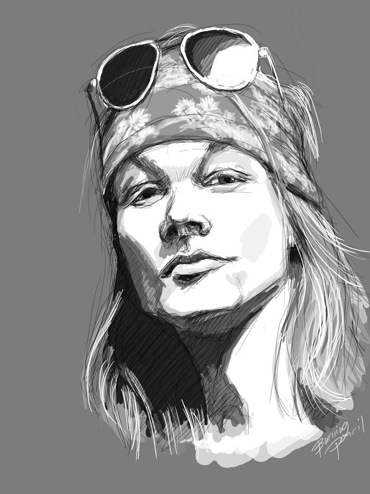 Axl Rose by burning-pencil