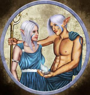 Poseidon and Amphitrite