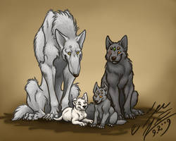 Wurry family portrait by Paperiapina