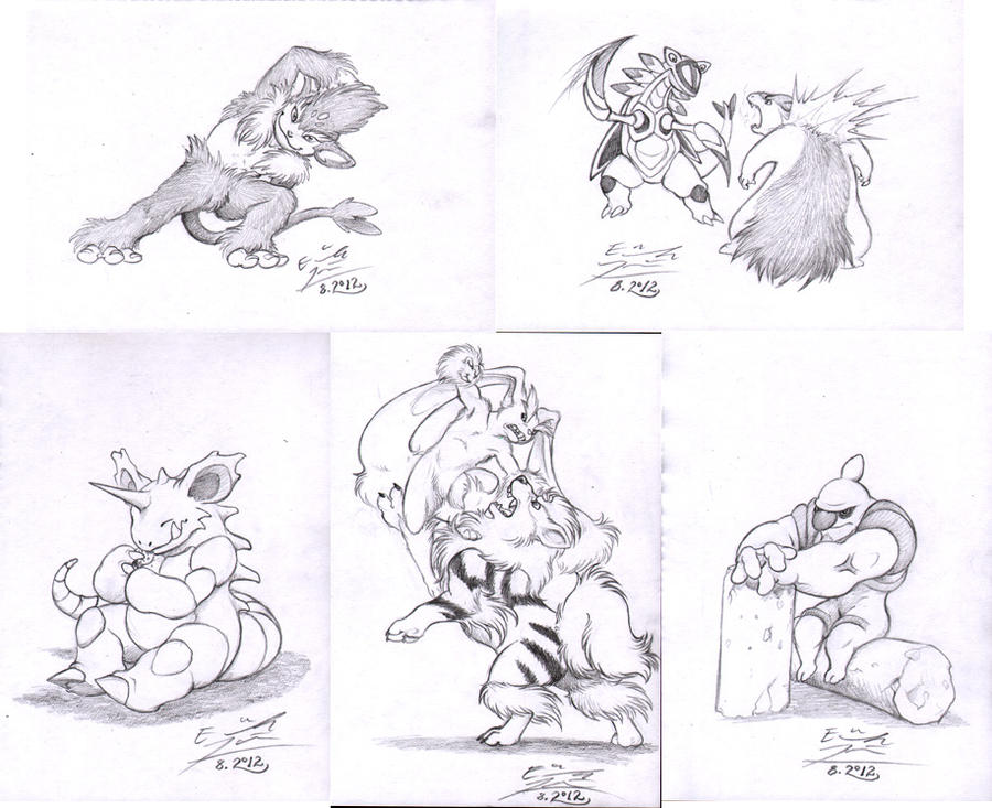 Pokemon request sketches 3 by Paperiapina