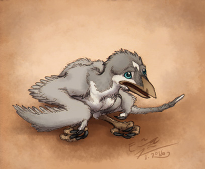 Another baby bird monster by Paperiapina