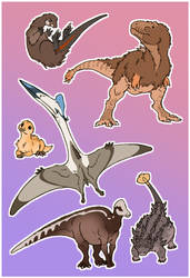 Dinosaur Stickers by Paperiapina
