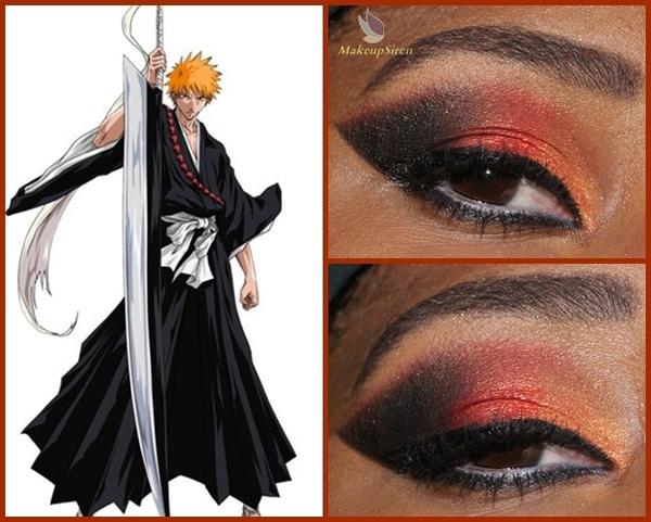 Eye Designs: Ichigo kurosaki by MakeupSiren