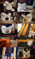 Dragonball Z Saiyan Princess Armor Progress Part 2 by MakeupSiren