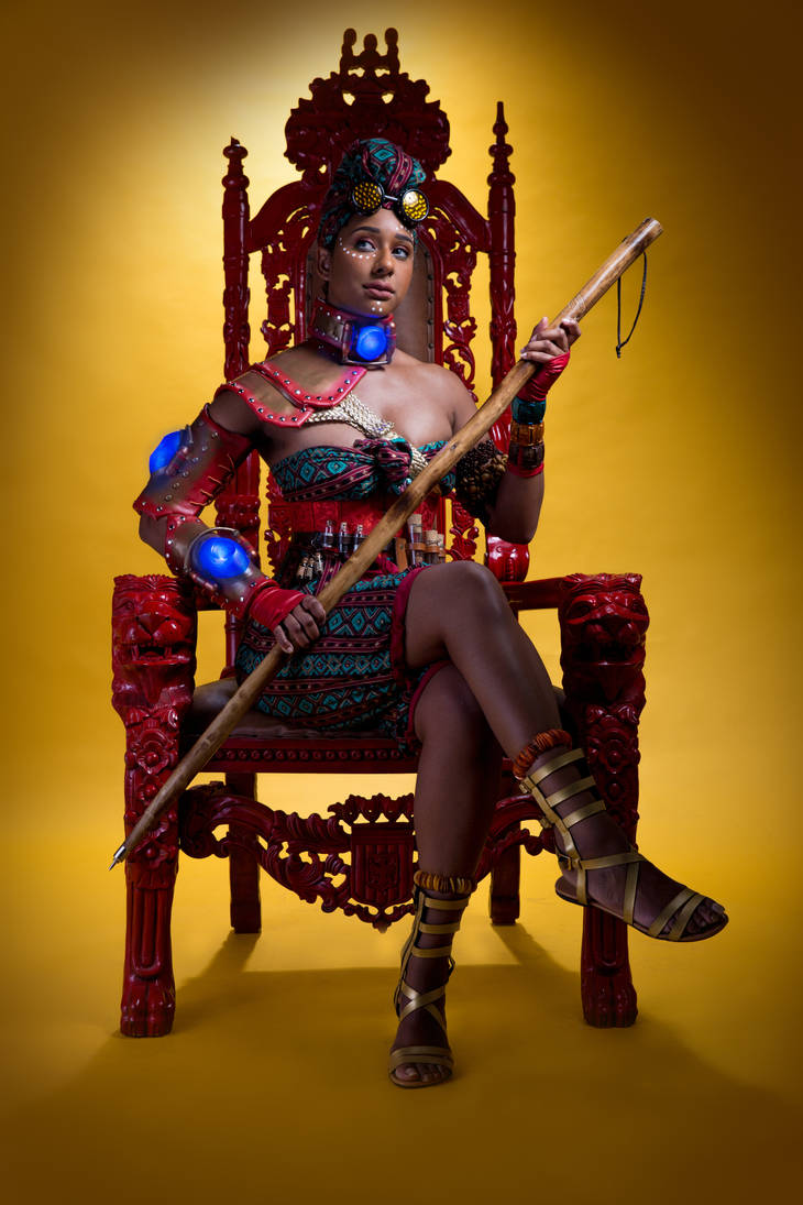 African Steampunk: On the Throne by MakeupSiren
