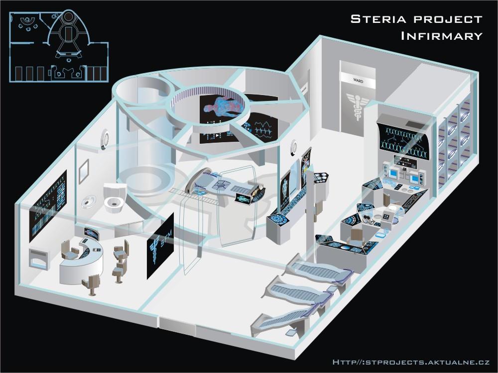 Steria Infirmary 3d 10422429 on Star Trek Deep Space Nine Blueprints