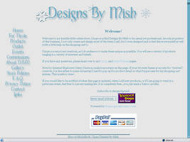 Designs By Mish Winter Layout by allucia