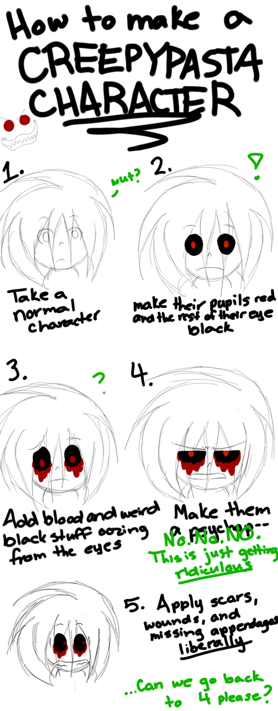 How To Make Your Own Creepypasta Character By