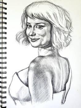 Milana Vayntrub sketch