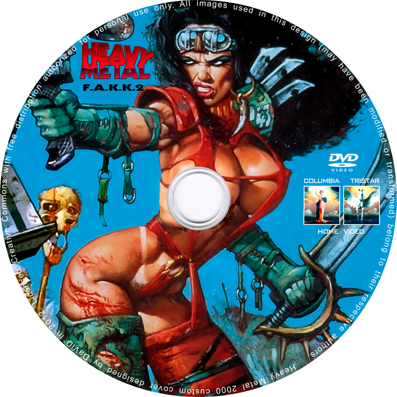 heavy metal 2000 fakk 2 custom label dvd by