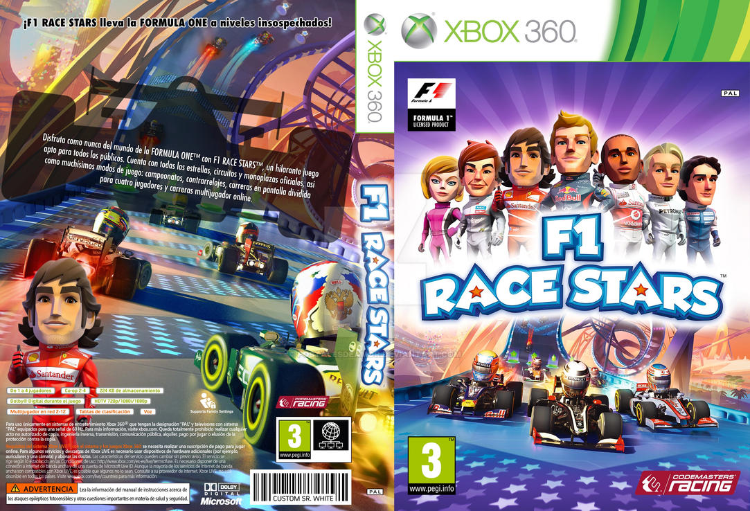 f1 race stars custom cover xbox 360 by postalesdeamor on. Black Bedroom Furniture Sets. Home Design Ideas