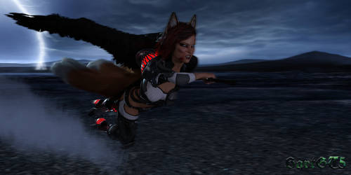 Winged Foxy warior