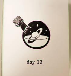 Day 13 - Universe in a bottle (Inktober) by Stupchek