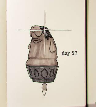 Day 27- Transhumanatee (Inktober) by Stupchek