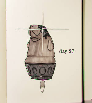 Day 27- Transhumanatee (Inktober)