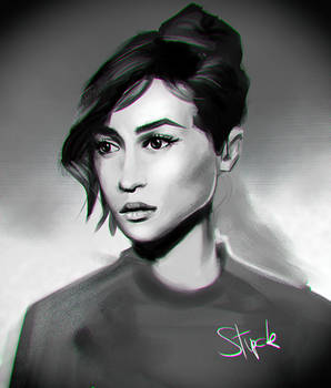 60s girl portrait study