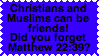 Christians and Muslims by Starlow-FTW