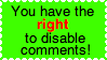Disabling Comments by Starlow-FTW