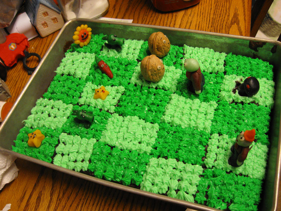 Plants Versus Zombies Birthday Cake By Leap207 On Deviantart