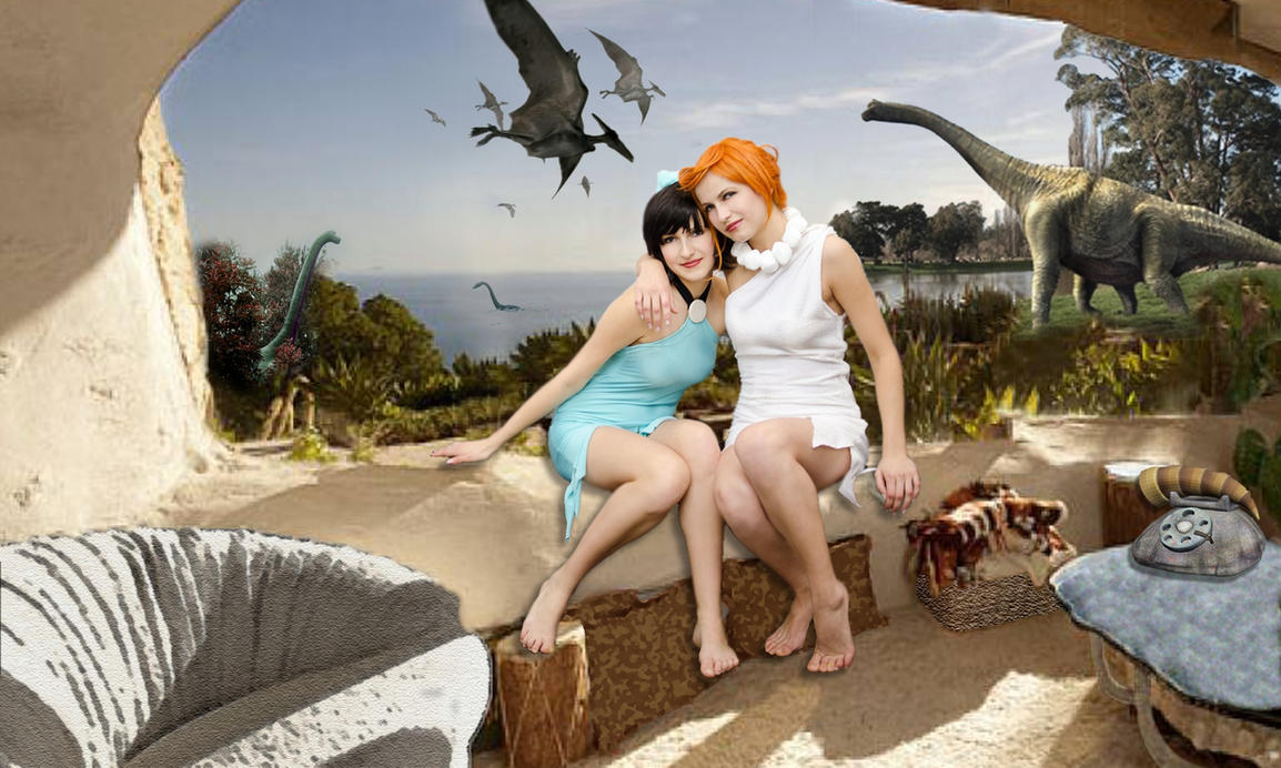 Wilma and Betty Cosplay - Rekuuu and Yorie14 by LongWalk9x7