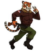 Smiling Tigers Mascot by MisterCrowbar