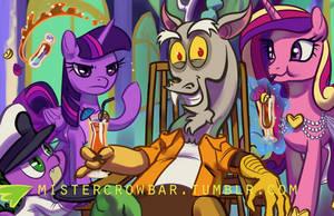 Discord's Entourage by MisterCrowbar