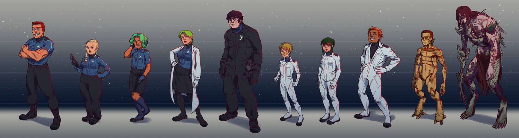 Space Crew Lineup by MisterCrowbar