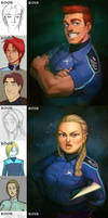 Space Crew Then and Now