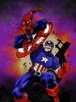 SPIDEY VS CAP colors