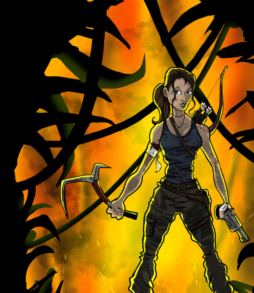 LARA CROFT REBORN by CThompsonArt