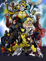 X-MEN colors by CThompsonArt