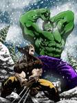 WOLVERINE VS HULK colors