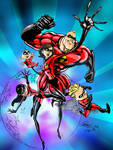 THE INCREDIBLES by CThompsonArt