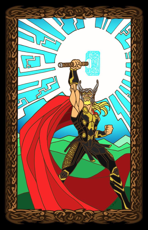THOR: GOD OF THUNDER by CThompsonArt