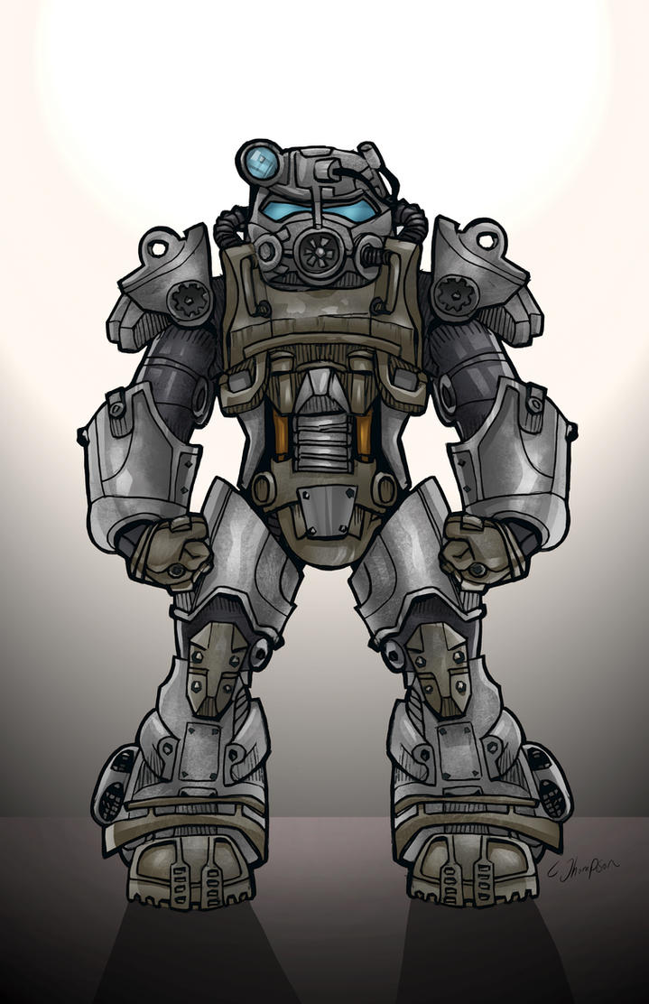 fallout 4 power armor by cthompsonart on deviantart