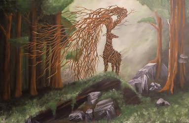 Forest spirit - canvas by fiskos01
