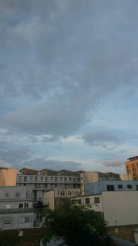 Dull cloud with bright sky