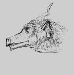 Dragon in profile