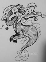 [Inktober] Kelpie Doodle by SunstarXD