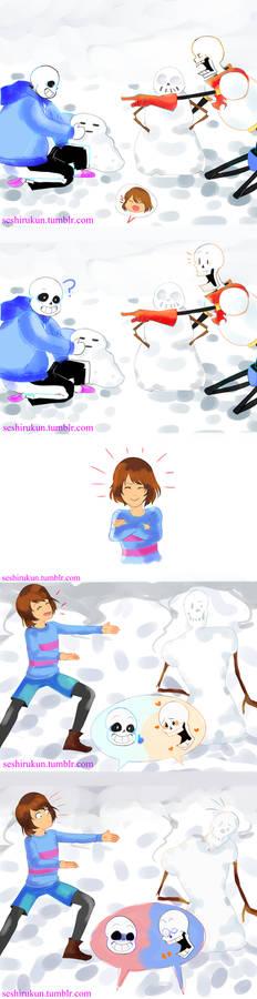 Undertale comic: making snowmonsters