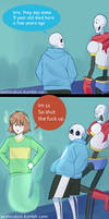 Undertale comic: Haunted Place by atomicheartlight