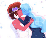 Ruby and Sapphire wedding