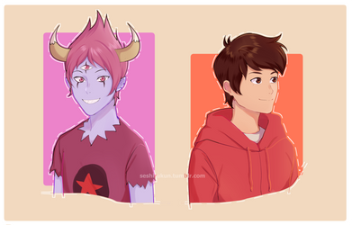Marco and Tom Commission by atomicheartlight