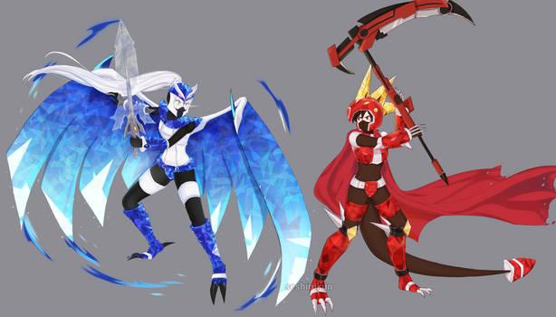 Berserker Ruby and Weiss (CM)