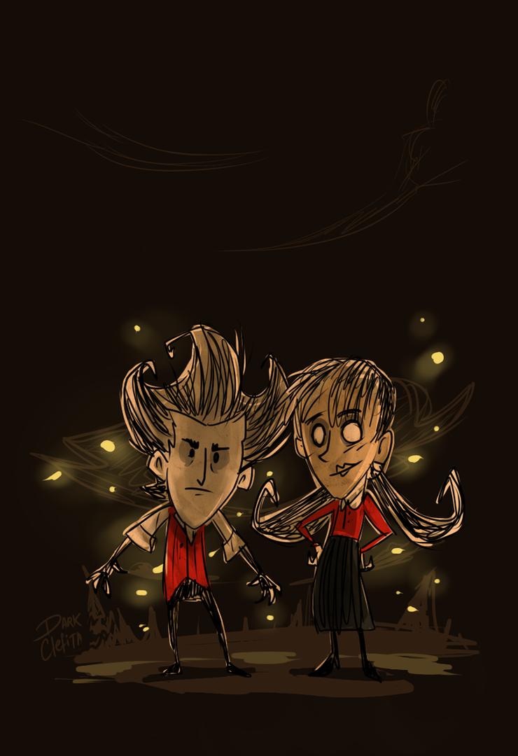 DST - Wilson y Willow by Dark-Clefita