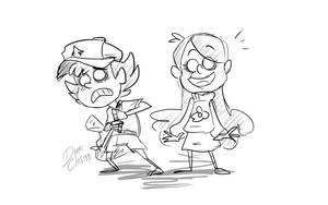 Don't starve x Gravity Falls - Dipper y Mabel by Dark-Clefita