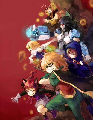 Touhou Titans Go! by ezroseven